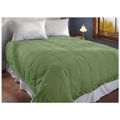 CASTLECREEK Microfiber Down and Feather Blanket, Forest