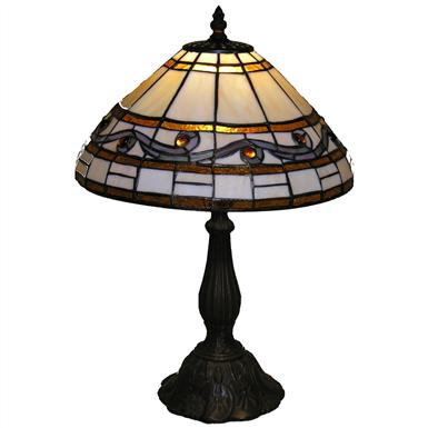 Tiffany-style Wave Table Lamp