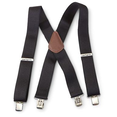 Carhartt Utility Work Clothes Suspenders, Black