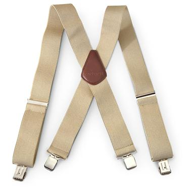 Carhartt Utility Work Clothes Suspenders, Khaki