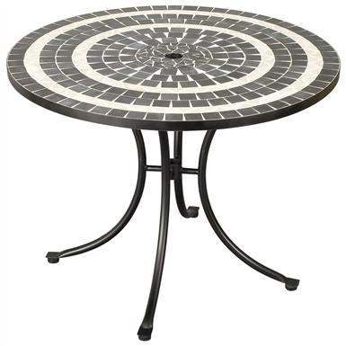 Delmar Black and Gray Tile Outdoor Table