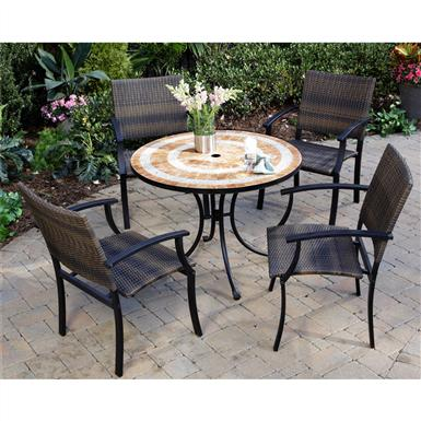 5-Pc. Valencia Outdoor Dining Set with Newport Arm Chairs