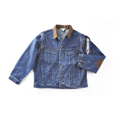Famous Maker Denim Jean Jacket with Zip-off Sleeves