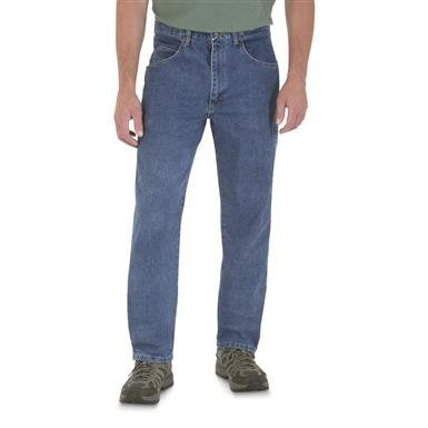 Wrangler Rugged Wear Relaxed Stretch Flex Denim Jeans, Stonewash