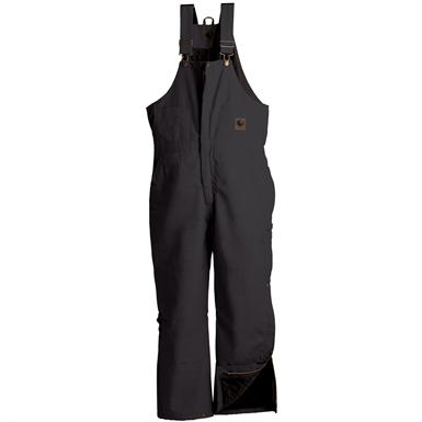 Men's Berne Apparel® Short Deluxe Insulated Bib Overalls, Black