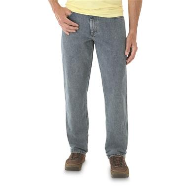 Men's Wrangler® Trail Trekker Relaxed Fit Jeans, Gray Indigo