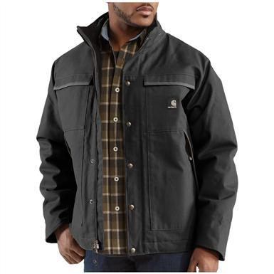 Men's Carhartt® Workwear Mankato Rain Jacket, Black