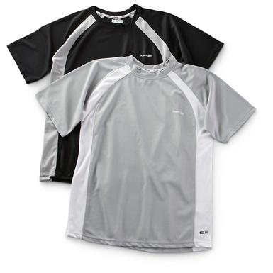 2-Pk. of Performance Crew T-shirts, Black / Heather Gray