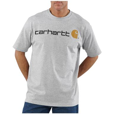 Men's Carhartt® Work Clothes Logo T-shirt, Heather Gray