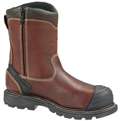 Men's Thorogood® 8 inch Side-zip Composite Toe Wellington Work Boots, Brown
