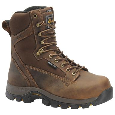 Men's Carolina® 8 inch Waterproof 800-gram Thinsulate™ Ultra Insulation Composite Toe 4x4 Work Boots, Copper
