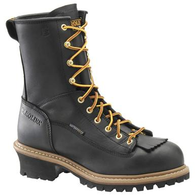 Men's Carolina® Steel Toe Waterproof Lace-to-Toe Logger Work Boots