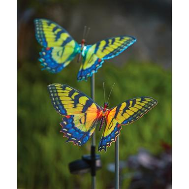 2 Westinghouse® Butterfly Solar Lights