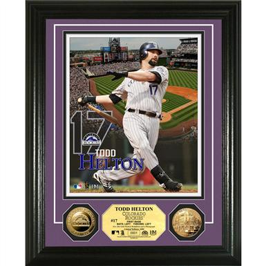 The Highland Mint® Todd Helton Gold Coin Photo Mint