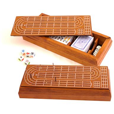 Sterling Games™ 5-in-1 Cribbage & Domino Game Set