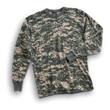 Long-sleeved Camo T-shirt, Army Digital