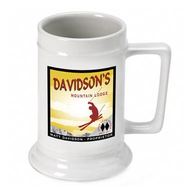 Personalized Ski Lodge Beer Stein