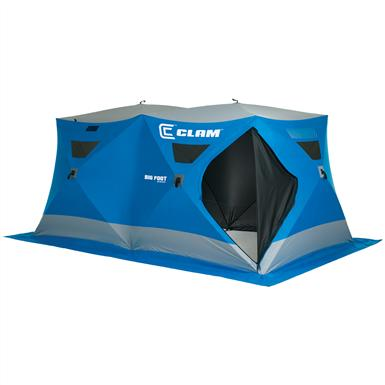 Clam™ Bigfoot™ XL6000 8x14' Pop-up 8-angler Ice Shelter