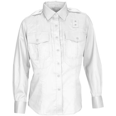 Women's 5.11 Tactical® PDU Long-sleeved Twill Class B Shirt, White