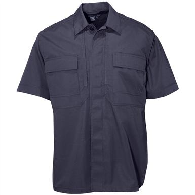 Men's 5.11 Tactical Short-sleeved Twill TDU Shirt, Dark Navy