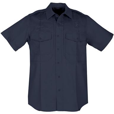 Men's 5.11 Tactical Class B Taclite PDU Short-sleeved Shirt, Midnight Navy