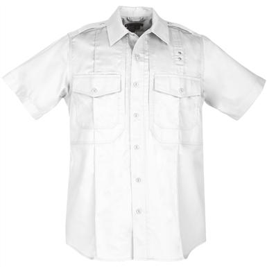 Men's 5.11 Tactical Class B Short-sleeved PDU Twill Shirt, White