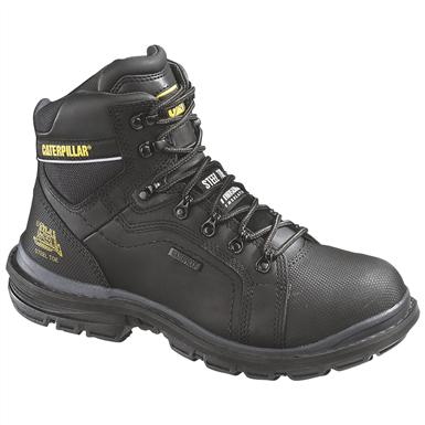 Men's CAT® 6 inch Manifold Waterproof Tough 200 Gram Insulated Steel Toe Boots, Black