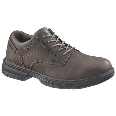 Men's CAT® Oversee Steel Toe Work Shoes, Dark Brown
