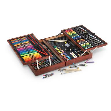 Art 101 Deluxe Wood Art Set, 215 Pieces