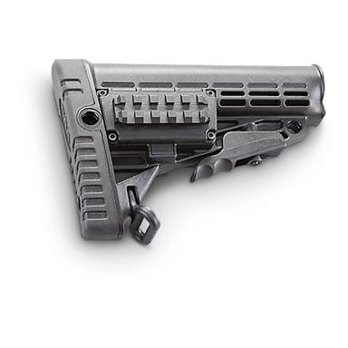 Side Picatinny Rail allows addition of adjustable cheek piece (ACP) or a mag holder (MPS)