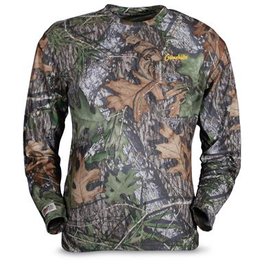 Men's Gamehide Elimitick Long-sleeve Camo Tech Shirt, Mossy Oak Obsession