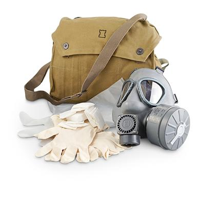New Finnish Military Gas Mask with Bag