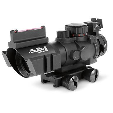 AIM Sports® 4x32mm AR-15 Arrow drop Reticle Scope, Matte Black