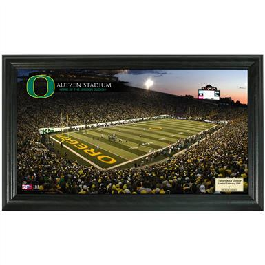 Highland Mint® University of Oregon Stadium Gridiron Photo Display