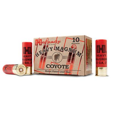 "10 rounds of Hornady® Heavy Magnum® Coyote 3"" Nickel-plated BB Lead Shot"