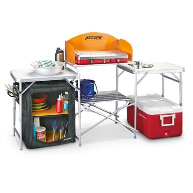 Outdoor Camp Kitchen; Cooking accessories not included