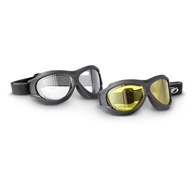 2-Pk. of BigBen™ Over Glasses Polycarbonate Goggles, Clear / Yellow