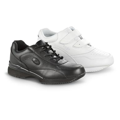 Women's Tour Strap or Lace-up Walking Shoes, Black / White