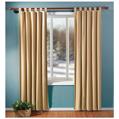 Milan Insulated Curtains, Linen