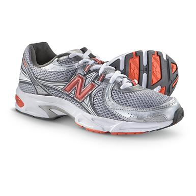 Women's New Balance® 500 Cross Trainers, Gray / Coral / Silver / White