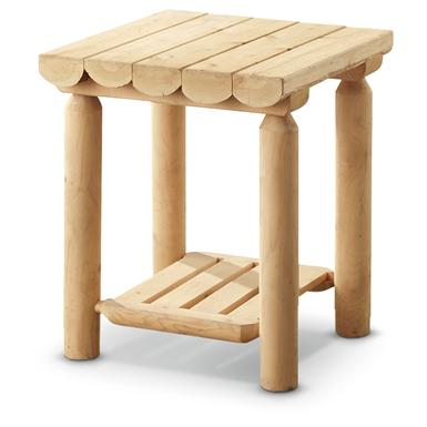 CASTLECREEK Cedar Log Side Table