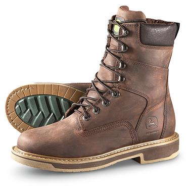 "Men's John Deere® 8"" Work Boots, Brown"