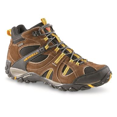 Merrell Men's Yokota Trail Mid Waterproof Hiking Shoes, Gunsmoke