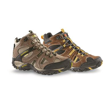 Merrell Men's Yokota Trail Mid Waterproof Hiking Shoes, Gunsmoke (4NS