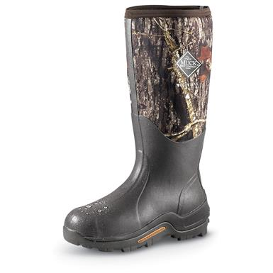 Men's Muck Boot Company Woody Max Waterproof Rubber Hunting Boots, Mossy Oak Break-Up®