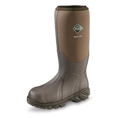 Muck Boot Men's Artic Pro Waterproof  Hunting Boots, Fleece Liner, Bark