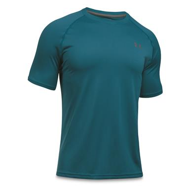 Under Armour Men's Tech Short-Sleeve T-Shirt, Bayou Blue/Graphite