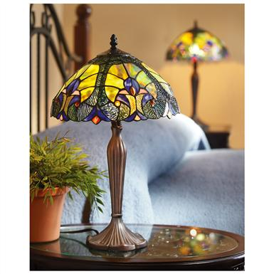 2-Pc. Set of Halston Tiffany-style Lamps, Blue