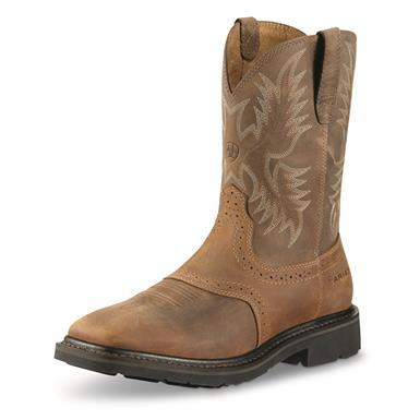 Ariat Men's Sierra Western Work Boots, Aged Bark