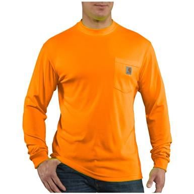 Men's Carhartt® Force™ High-visibility Long-sleeve T-shirt, Brite Orange